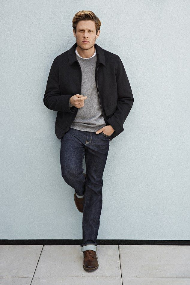 James Norton, who played the psychopathic killer Tommy Lee Royce in the BBC series Happy Valley, looks cool and casual as he poses for Marks and Spencer's online magazine