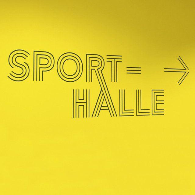 Leitsystem – Sporthalle Industrieschule Chemnitz   Slanted - Typo Weblog und Magazin