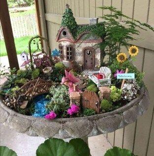 Stunning Fairy Garden Miniatures Project Ideas 06 Miniature