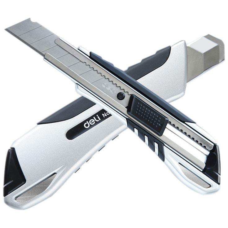 Aleación de Zinc de alta Calidad de Gran Tamaño Cuchillo de bloqueo Automático Cortador De Papel Hojas de Afeitar Cuchillo Material Escolar y de Oficina herramientas
