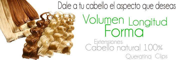 Dale a tu cabello el aspecto que deseas, volumen, longitud, forma etc con extensiones cabello natural