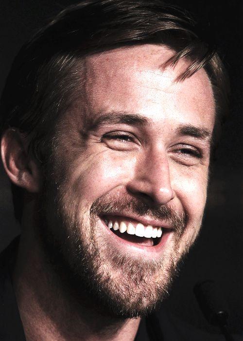 Ryan Gosling smiling perfectly.