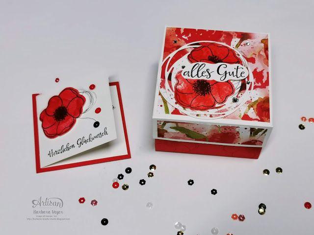 Mohnblumen Box In 2020 Basteln Mit Papier Anleitung Karten Handgemacht Blumenkarten