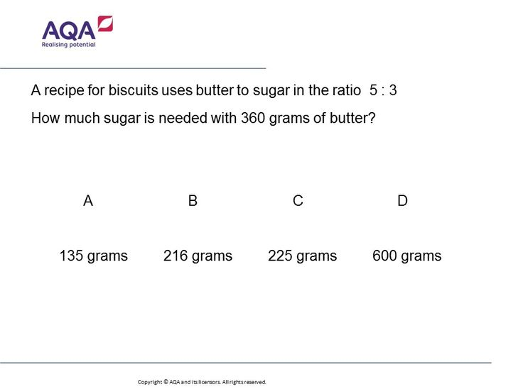 Ratio in Recipes (Foundation/Higher): GCSE Maths Question of the Week on Mr Barton Maths