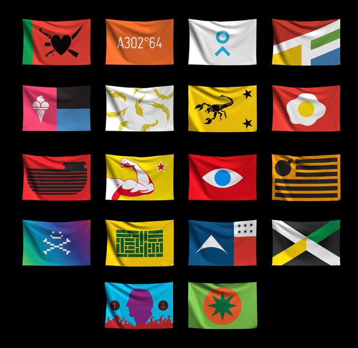 "Flags From Possible is finally online! Check out: http://flagsfrompossible.tumblr.com "" Flags From Possible is an experiment on flags and their historical background. This project makes proposals of possible signs of possible countries. Each flag has..."