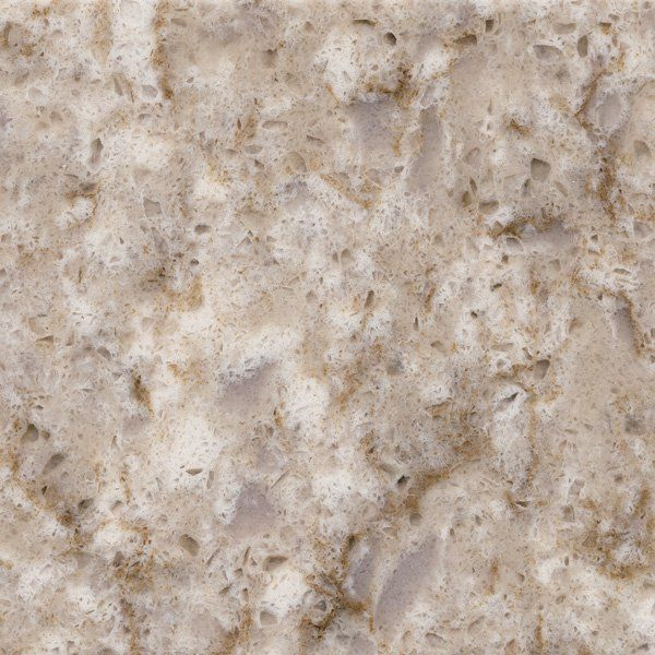 silestone quasar quartz countertops--I like the amount of brown and white in this stone.  should go great with the cabinets