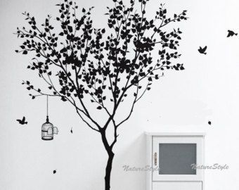 vinyl muur sticker winter bomen muur sticker door NatureStyle