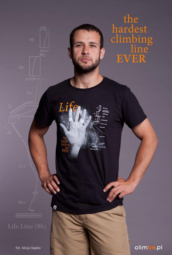 Męski t-shirt z nadrukiem wspinaczkowym Climbe Life Line   Koszulka dostępna w sklepie:   www.sklep-climbe.pl