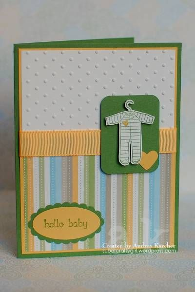 All the details for this card, can be found on my blog: http://supercraftygirl.wordpress.com/2011/01/30/hello-baby/