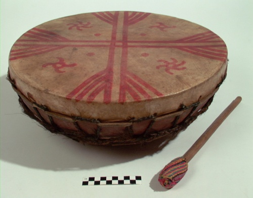 Shaman's drum Mapuche, Chile, 1910-1930 The National Museum of The American Indian