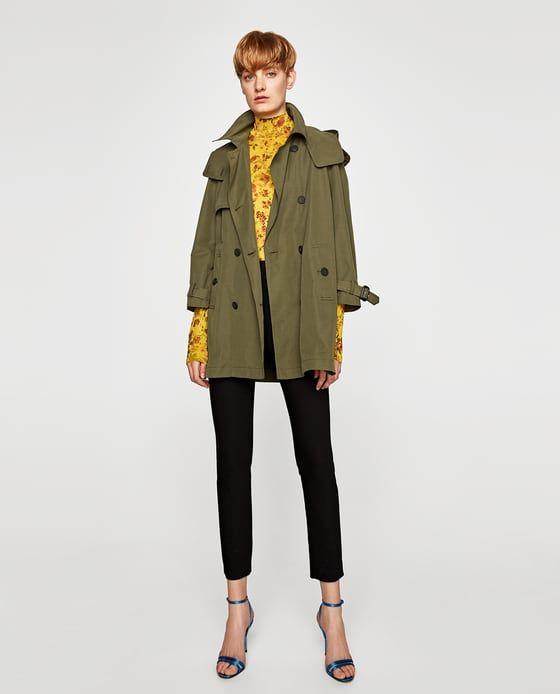 9f549f29 TRENCH CORTO | Fridays at Office | Short trench coat, Zara shorts ...