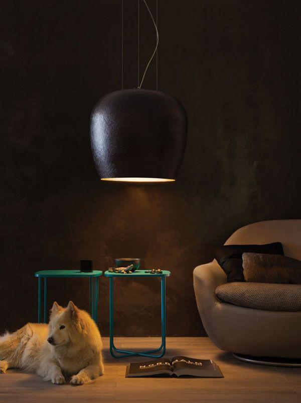 Lampada a sospensione fatta a mano in vetroresina Collezione Hand Made by LUCENTE - Gruppo Rostirolla | design Sandro Santantonio