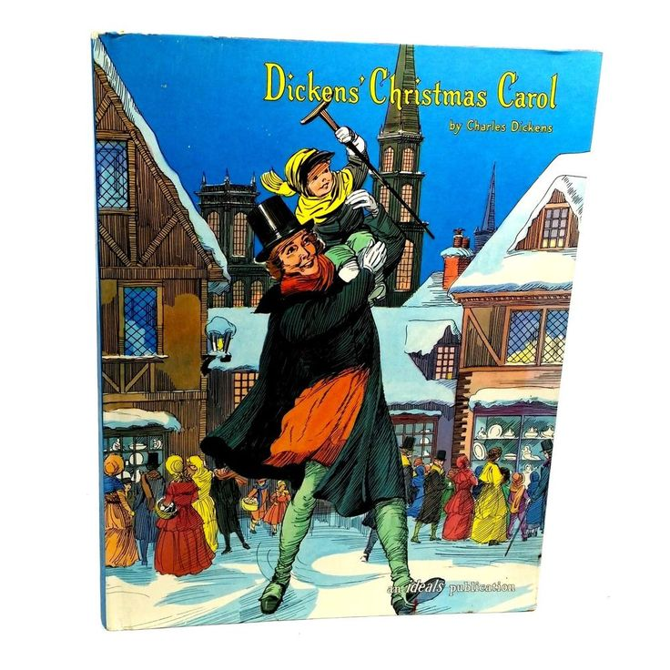 Dickens Christmas Carol By Charles Dickens 1961 Hardcover Vintage Holiday Book