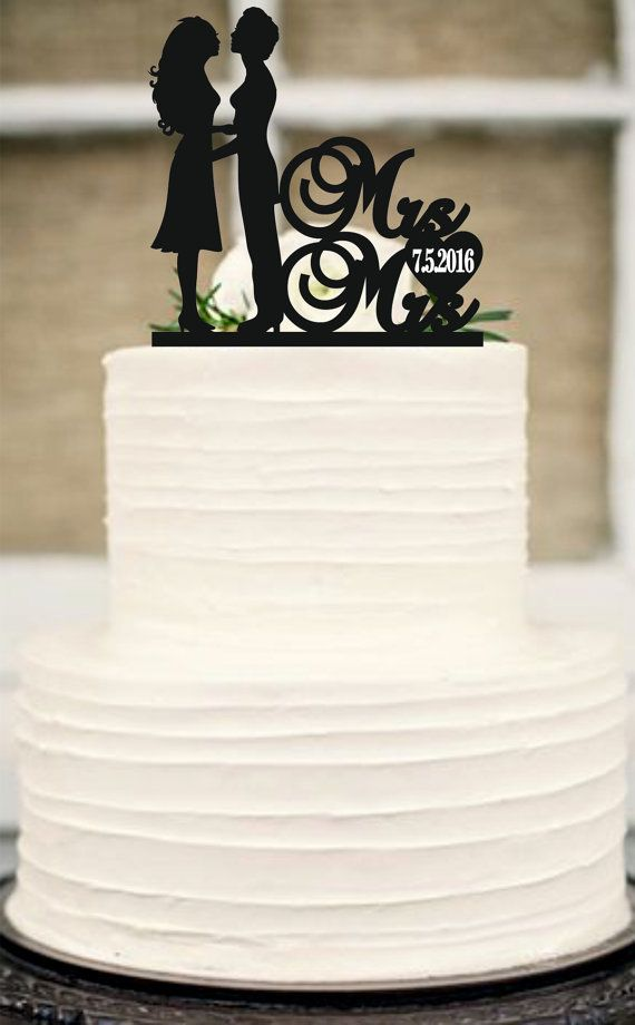 Best 25 unique wedding cake toppers ideas on pinterest wedding this same sex cake topperlesbian cake toppermrs and mrs wedding cake topper junglespirit Image collections