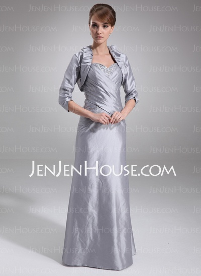 Mother of the Bride Dresses - $146.99 - A-Line/Princess Sweetheart Floor-Length Taffeta Mother of the Bride Dresses With Ruffle  Beading (008006075) http://jenjenhouse.com/A-Line-Princess-Sweetheart-Floor-Length-Taffeta-Mother-Of-The-Bride-Dresses-With-Ruffle-Beading-008006075-g6075