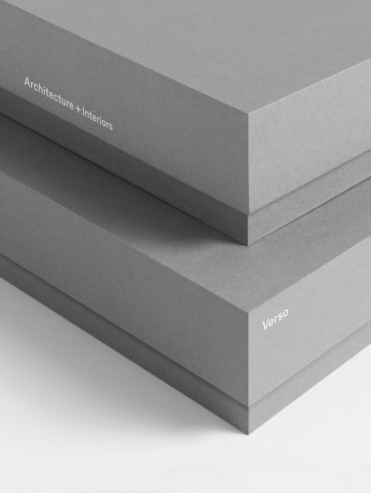 Packaging by Studio South for Auckland-based architecture and interior business Verso