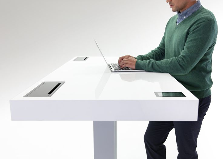 future home office gadgets. this standing desk knows when you need to sit down office workspacehome future home gadgets