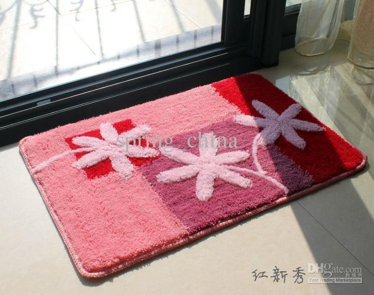 Floor Mat 40x60cm Good Quaity Foot Rugs Absorbs Wate Colorful Bath Bedroom Door 6pcs