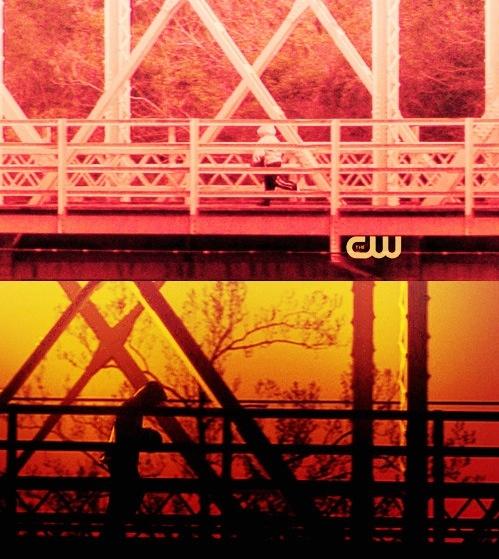 Lucas on the bridge-season 1, Jamie on the bridge-season 8