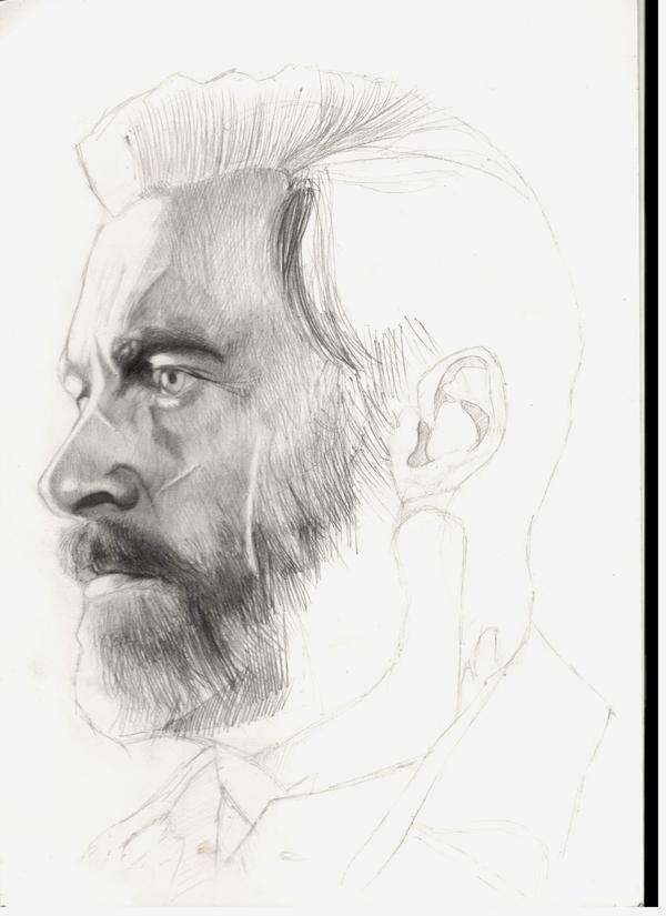 Как я Логана рисовал Логан, росомаха, Хью Джекман, Фильмы, арт, портрет, длиннопост