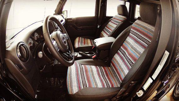 Boho Print Custom Seat Covers by KingofSeatCovers on Etsy