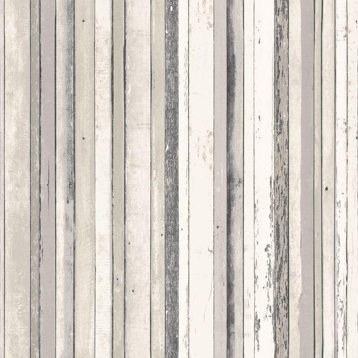 Fine d cor grey wood stripe wallpaper striped wallpaper for Grey striped wallpaper living room
