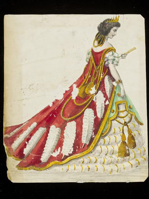 Design for a fancy dress costume, ca. 1860 | In the Swan's Shadow
