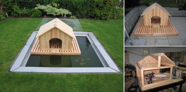 How To Build a Floating Duck House - http://eradaily.com/build-floating-duck-house/