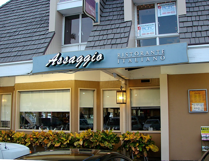 Assagio Ristorante Italiano, 2 minutes from our house, we there!