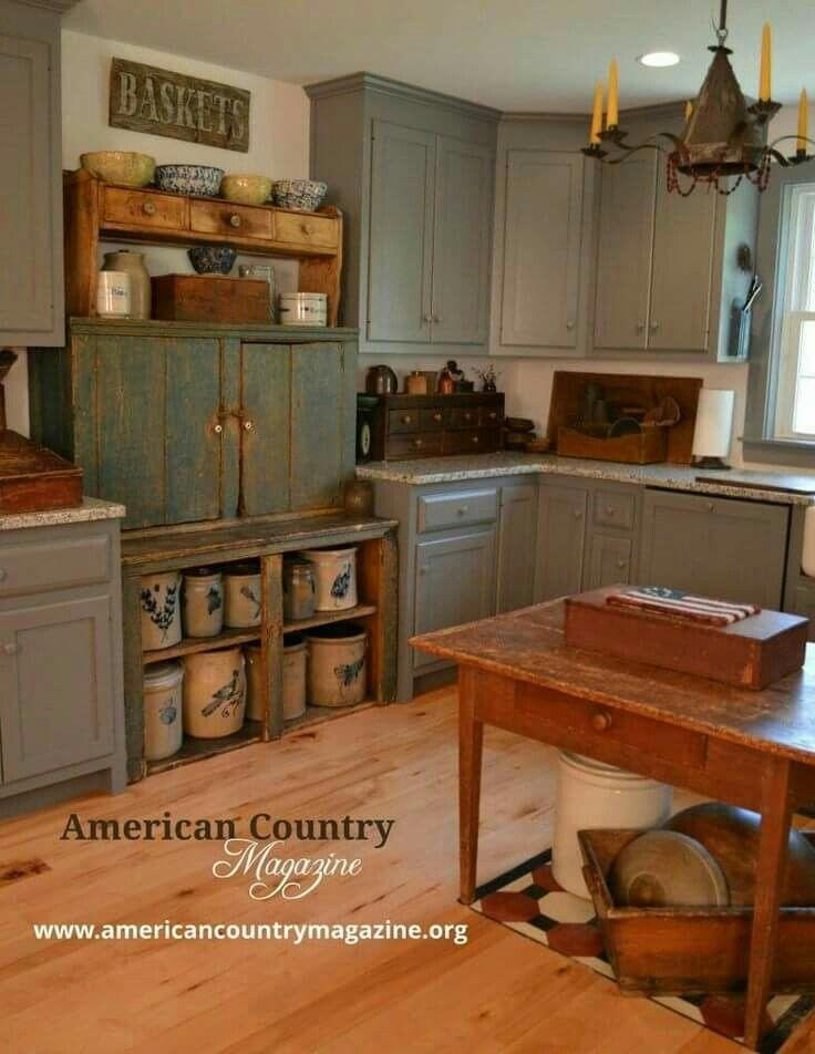 508 best Primitive Kitchens♥ images on Pinterest | Kitchen rustic ...