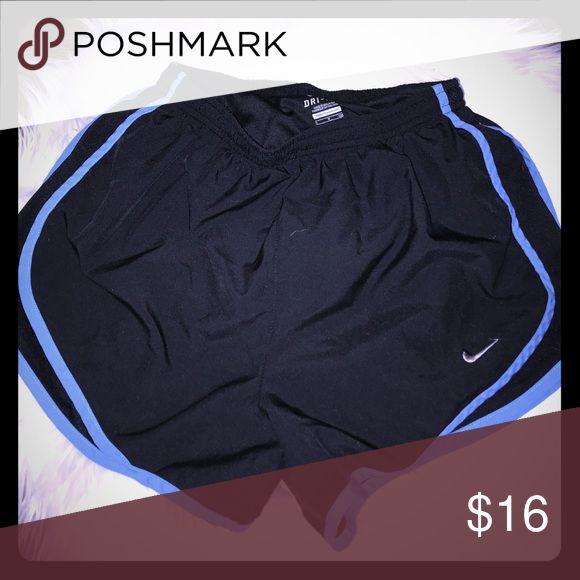 Black Nike Shorts Blue outline Nike Shorts