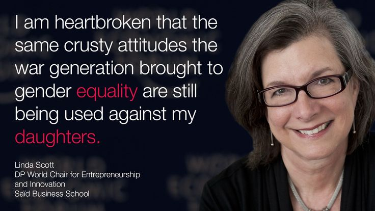 """""""I am heartbroken that the same crusty attitudes the war generation brought to #gender #equality are still being used against my daughters."""" - Linda Scott it #Davos an #wef15"""