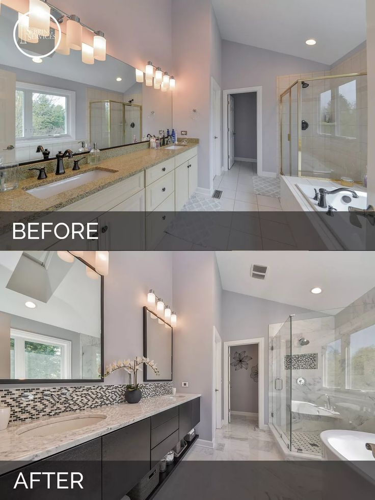 Photo Gallery For Website Before and After Master Bathroom Remodel Aurora Sebring Services