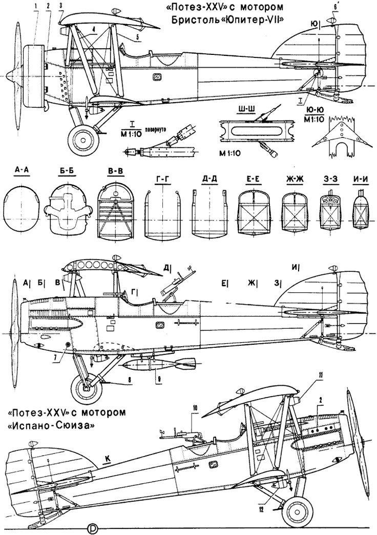 """Легкий одномоторный бомбардировщик """"Потез-XXV"""""""