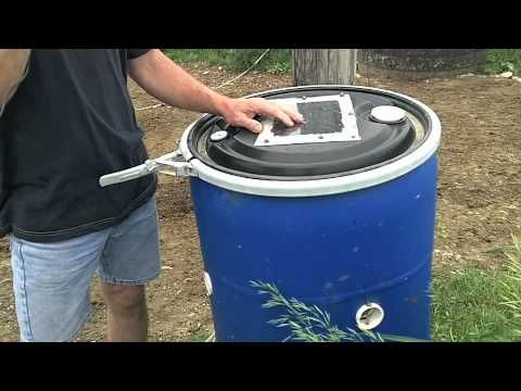"""Innovations on an Organic Dairy: """"The Fly Barrel"""" (trapping large quantities of flies - to the relief of livestock, farmers, gardeners)"""