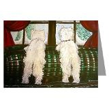 West Highland White Terriers Waiting for Santa