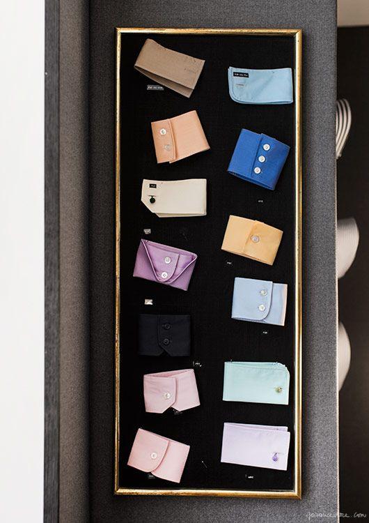 Charvet, Paris, bespoke, store, shirts, scarves, fabric, cuff links / Garance Doré