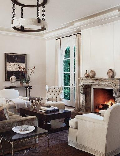74 best Black and Cream Living Rooms images on Pinterest Living