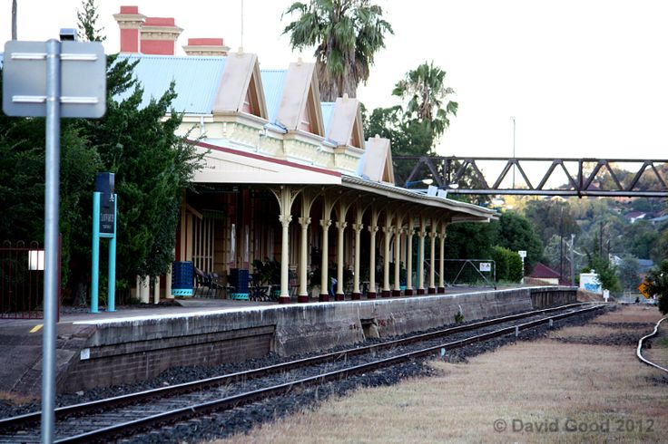 An early morning, low light photograph of Tamworth Railway Station on the Great Northern Railway. This historic railway station was officially opened on 9th January 1882.
