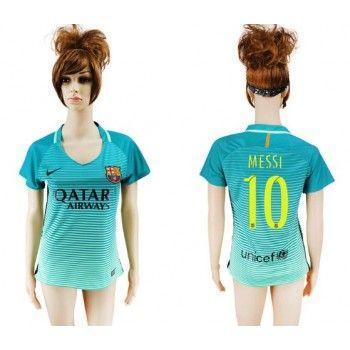 Camiseta Barcelona Mujer Messi 10 Tercera equipación 2016-17