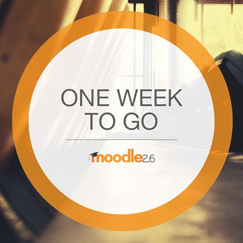 Moodle 2.6 is scheduled to be released next Monday, 11 November on Moodle.org Keep an eye out for new features and improvements coming in Moodle 2.6!