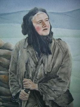 "A painting of Hannah Hauxwell by Caroline McClung. From my blog post ""What is a Glen"" about living in isolated rural splendor. http://www.godeeper.info/2/post/2013/03/what-is-a-glen.html"