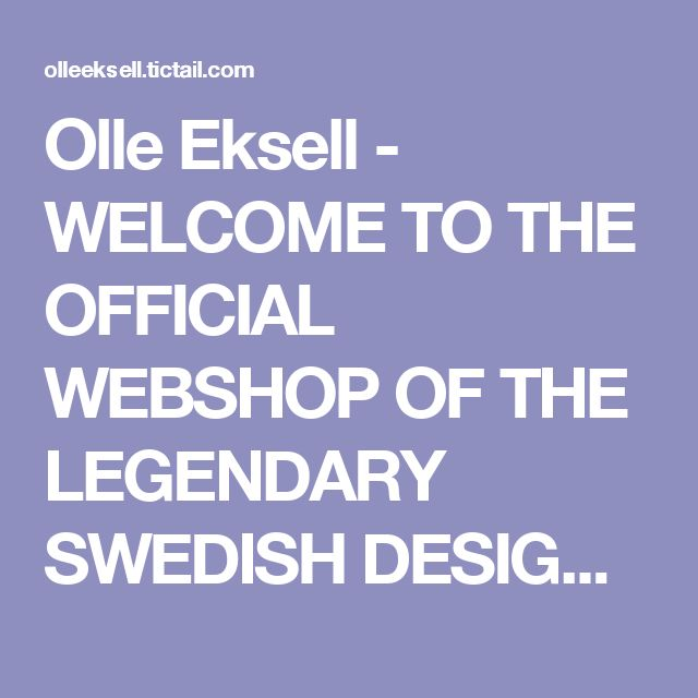 Olle Eksell - WELCOME TO THE OFFICIAL WEBSHOP OF THE LEGENDARY SWEDISH DESIGNER OLLE EKSELL (1918-2007) - Ögon Cacao - 1956 - One Eye - Black and white 50x70