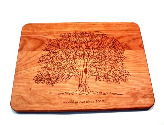 Holding true to the original spirit of ETSY, we still make all of our cutting boards one board at a time using locally sourced hardwoods! A quality personalized / engraved cutting board makes a great handmade item for Wedding gifts, Wedding Shower gifts, Bridal Shower Gifts, Wedding Presents, Anniversary, Christmas, Birthdays, Housewarming, Hostess or just about any other gift giving occasion. Get yours here: https://www.etsy.com/shop/ShadyTreeCreations?ref=hdr_shop_menu