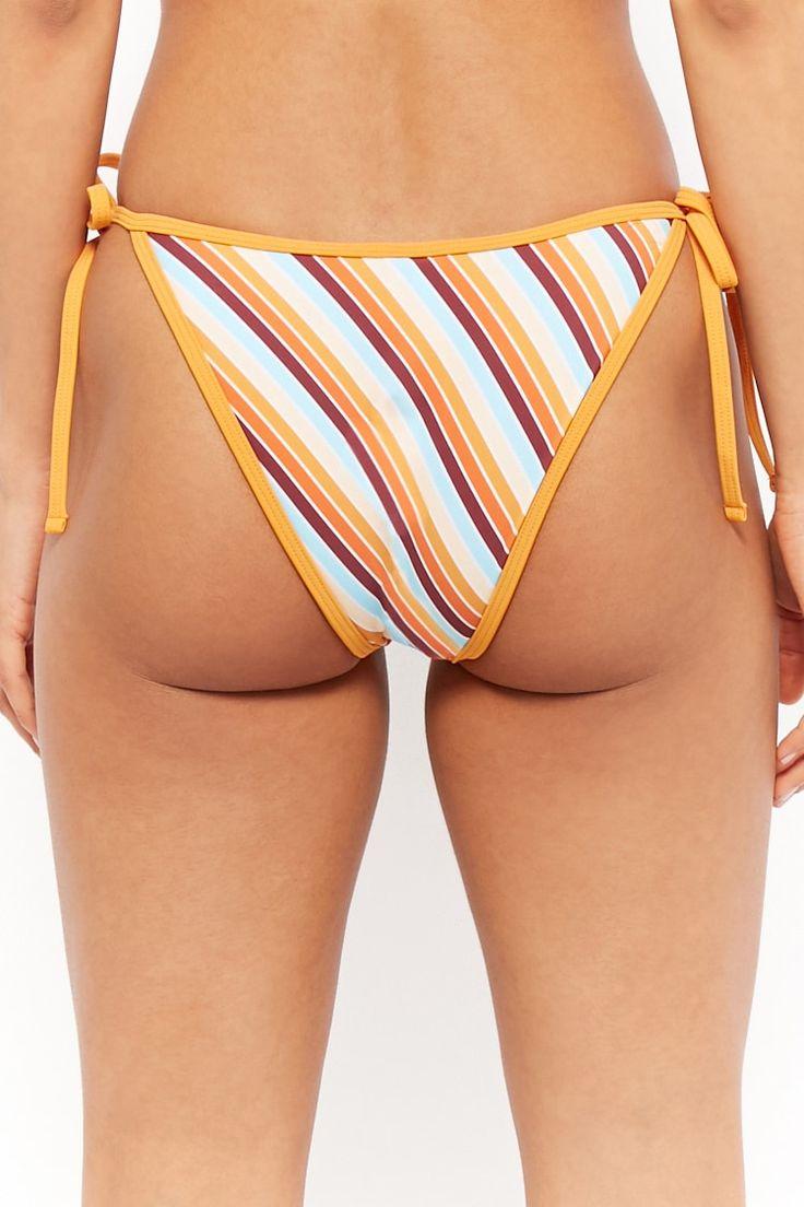 Striped String Bikini Bottoms #Affiliate , #spon, #String, #Striped, #Bottoms,