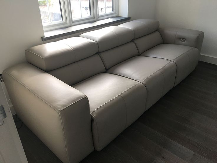 Tufted Sofa Binari seater electric reclining sofa Modern leather sofa with adjustable headrests and electric reclining