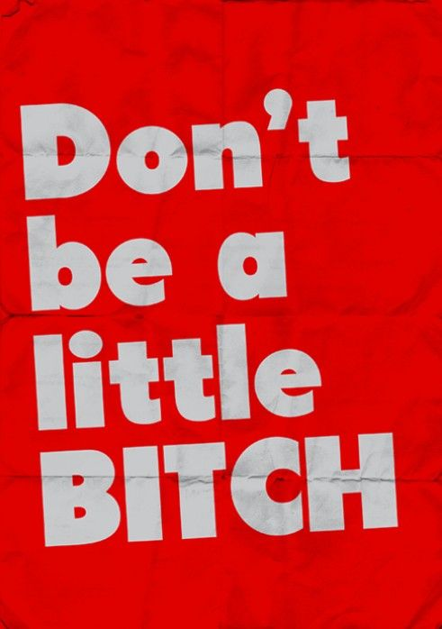 Don't be a little Bitch.: Fucking Moments, Basic Bitch, Real Life, Living Byword, Big Bitch, Quote, Funny, Words Power, Big Girls