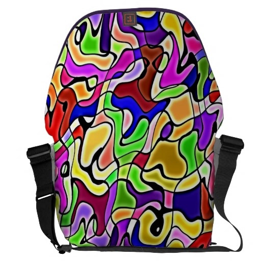 colorful abstract pattern large Messenger Bag