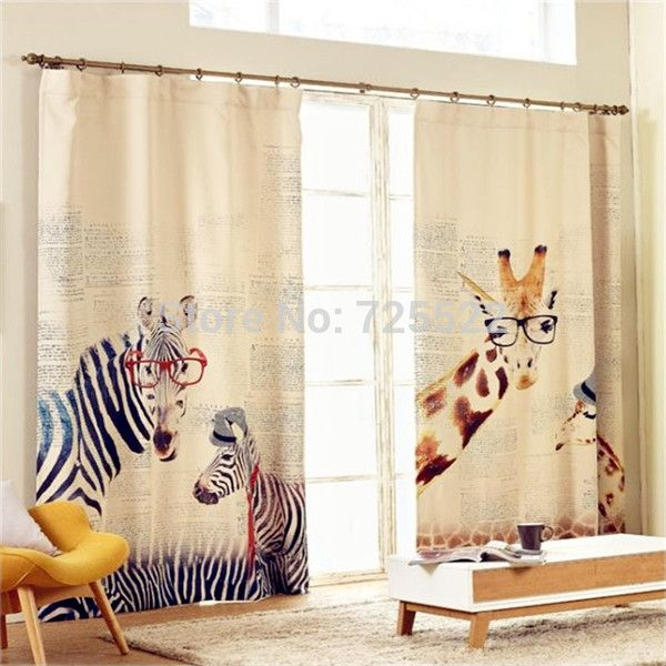 Cartoon Linen Cotton Boy Bedroom Curtains Embroidery: 1000+ Ideas About Zebra Curtains On Pinterest