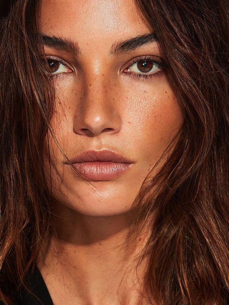Getting her closeup, Lily Aldridge wears bronzed makeup look